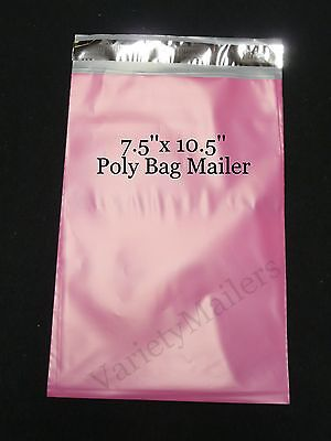 "15 Pink Poly Bag Shipping Envelopes 7.5""x 10.5"" Self-Sealing Postal Mailers"