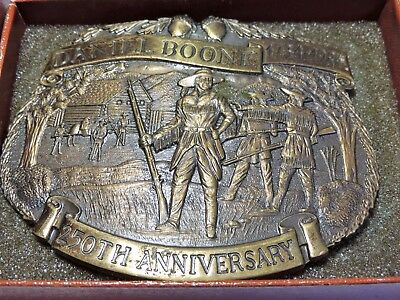 The Historic Providence Mint 250th Daniel Boone Solid Bronze Belt Buckle
