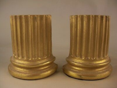Roman Column French Renaissance Palladio Grand Tour Style Gold Gilt Bookends