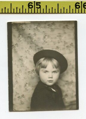 Vintage 1940's PHOTOBOOTH photo / Little Peggy is a Dangerous 573-Year Old Witch