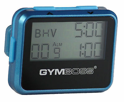 Gymboss Interval Timer And Stopwatch Teal / Blue Metallic Gloss Shipped From Uk