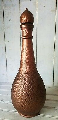 Vintage Decanter Whisky Bar Copper Pub Shed Man Cave 0126 55 69 Glass Retro