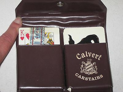 Vtg Calvert Carstairs Playing Cards Case 1 Deck Sealed w/ Tax Stamp Horses