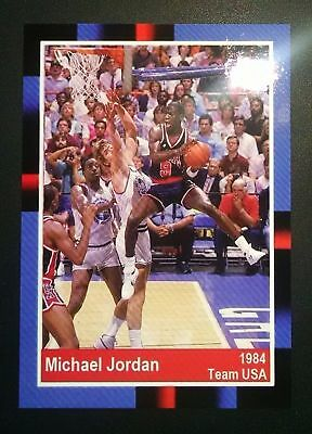 1984  Michael Jordan Rare Team Usa Olympic Rookie Promo  Basketball Card$$$