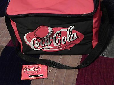 Coca-Cola Insulated Cooler - w/ Tags) Ltd Edition) Red/Black w/ Strap) Free Ship