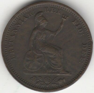 1828 Type A George IV Half Farthing***Collectors***