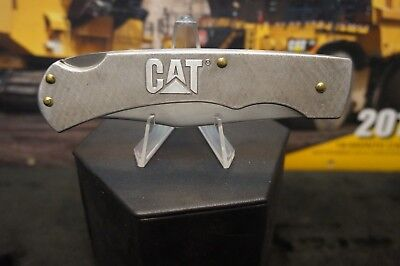 CATERPILLAR  CAT Large Lock Back Serrated Stainless Steal Hunting Knife  Mint