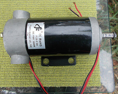 Permanent Magnet Electric Brush Motor 110 Volt DC 1000 Watts Flade 13mm Shaft