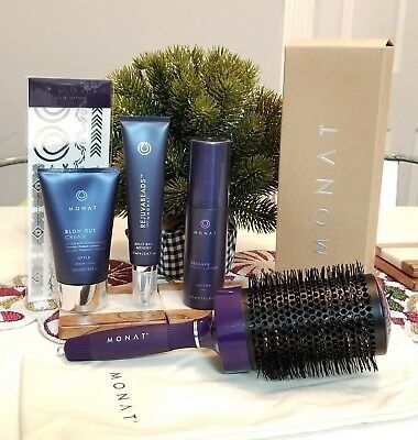 Monat Styling Combo -Brand New -Blow out cream, root lifter, rejuvabeads, brush
