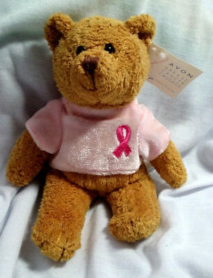 2001 Avon Breast Cancer Crusade Bear Pink Ribbon w/Tags