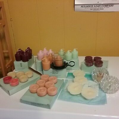 36 Partylite CANDLES VOTIVE, TEALIGHTS ASSORTED SCENTS
