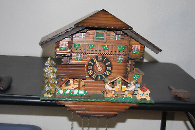 Cuckoo Clock, German Black Forest , Pre-Owned