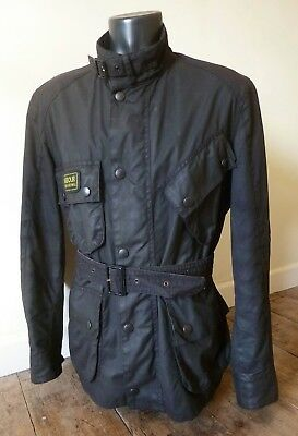 "Superb Barbour International "" Trials "" Wax Motorcycle Jacket - Med - Vgc £225"