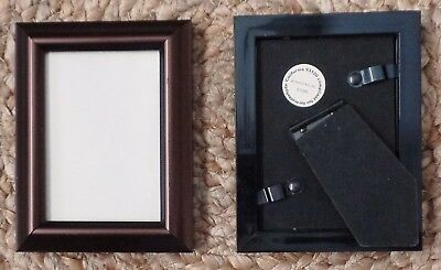 "Lot of 2 Picture Frames - Resin Antique Brass - 2.5"" X 3.5"""