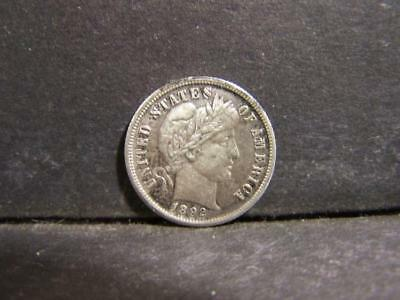 XF 1892-S Barber Dime. Very scarce in High Grade! Lot 254