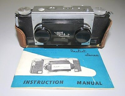 40,s Vintage Realist Stereo 3D 35mm Camera David White Milwaukee w/ leather case