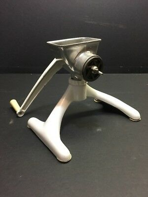Vintage Magic Hostess Meat Grinder White Enamel Kitchen Decor