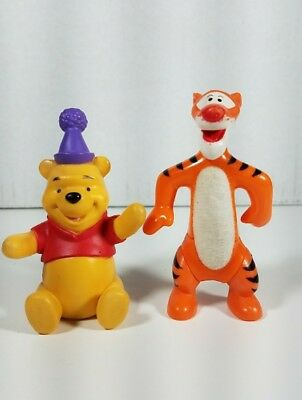 Disney Winnie The Pooh And Tigger Birthday Party PVC Figures Cake Toppers