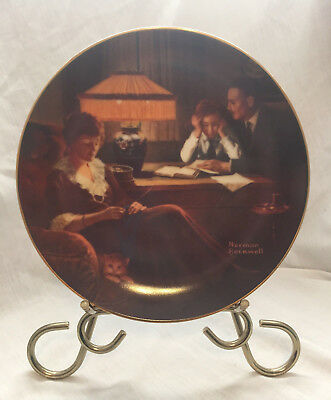 Norman Rockwell collector plate Father's Help Edwin M Knowles 1983 EUC