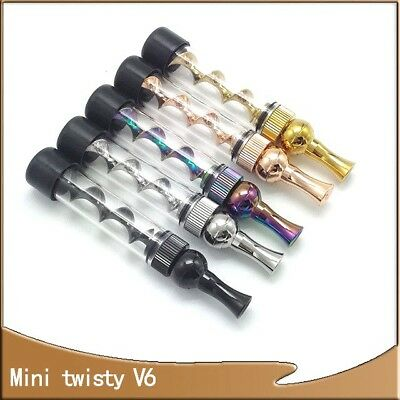 V6  Mini Twisty Glass Blunt 7 Pipe High Tech Dry Herb UK SELLER