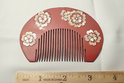 Japan vintage comb with shell inlay (kh06)