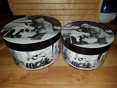 Vintage Nostalgic Nesting Hat Wig Storage Boxes Unique!