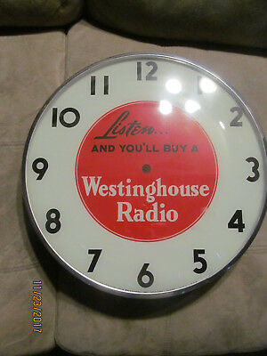 Vintage Pam Advertising Clock Frame For Parts Or Repair