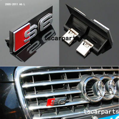 NEW AUDI S4 GRILL BADGE A4 A4L S4 Emblem ABS Chrome Grille