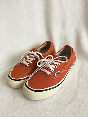 VANS Authentic Style 44 Canvas Womens 7/Mens 5.5  Orange (Autumn Glaze)
