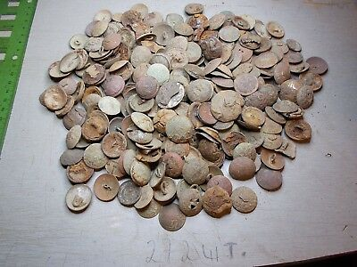 Metal detector finds.mix lot buttons Imperial Russian Army 272 pieces