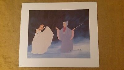 """CINDERELLA and FAIRY GODMOTHER Disney Animation Gallery Print poster 19"""" x 16"""""""