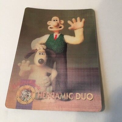 Wallace & Gromit Hologram Picture Card Rare