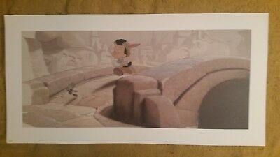"PINOCCHIO and JIMINY CRICKET Disney Animation Gallery Print poster 34"" x 16"""