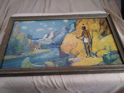 """Robert Wesley Amick """"Ind. Rendezvous"""" Chromolithograph 1928 - Borin Mfg."""