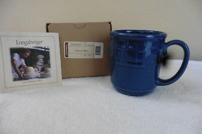 "One New ""longaberger Woven Traditions Mug"", Box & Pamphlet Cornflower"