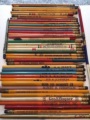 Vintage , Auto, Home, Fire Insurance Advertising Pencil Lot. Key Collector Lot!