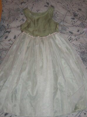 Girls DRESS size 5 5T SPRING Summer EASTER Wedding Party Green Solid