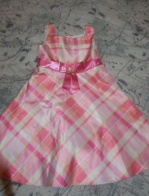 Girls DRESS size 5 5T SPRING Summer EASTER Wedding Party Pink Plaid