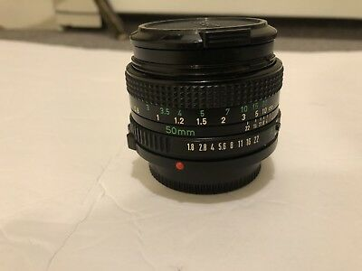 Canon FD 50mm f/1.8 1:1.8 With Zykkor Filter -Great Vintage Lens
