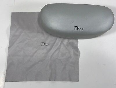 Dior Sunglasses Eyeglasses Hard Case with Cleaning Cloth Pre-Owned