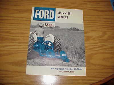 Original Ford 515 And 501 Mowers Brochure