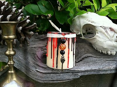 CLEANSING New Year CANDLE for POSITIVE ENERGY Protection Talisman skeleton key