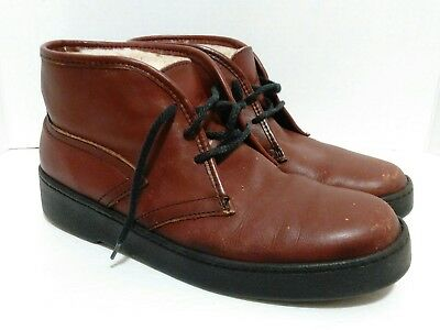 dafb5ec3067 MEN'S VINTAGE ORIGINAL BATES FLOATERS 8M Brown Leather Wool Lining Ankle  Boots