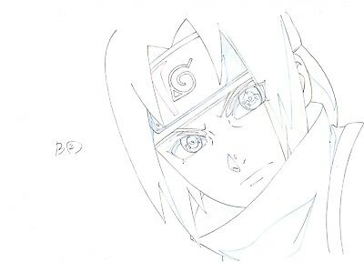 NARUTO Sasuke Genga Douga not Cel Anime Production Artwork - Complete Set of 15