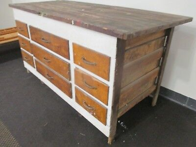 Antique Store / Kitchen Island Counter with drawers