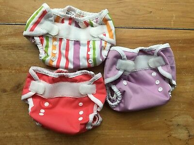 Lot Of 3 Thirsties Duo Wrap Cloth Diaper Covers Size One / Small 0-9m