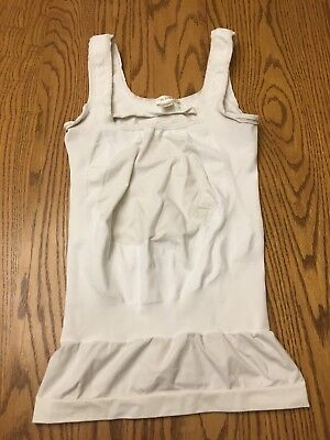 BLANQI Belly Support Tank White Large Maturnity Pre-Owned