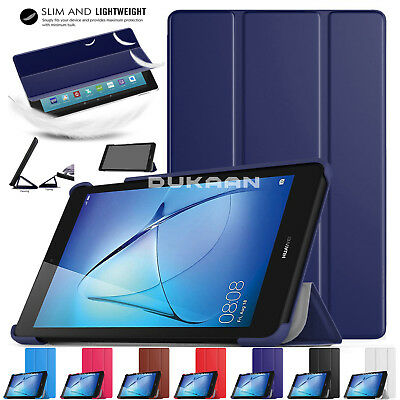 "New 2017 Huawei MediaPad T3 10 (Tablet 9.6"") Smart Case Book Hard Shell Cover"