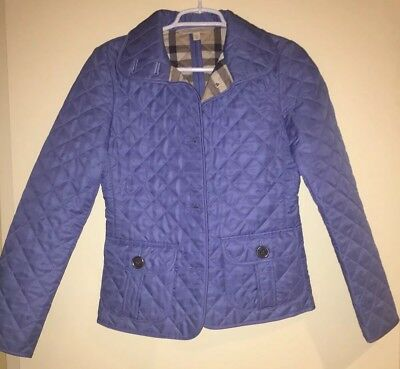 Burberry Woman S Brit Diamond Quilted Jacket In Powder Blue