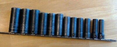 """Snap-On Tools 12 Piece Metric 1/2"""" Inch Drive 6 Point Shallow Set"""